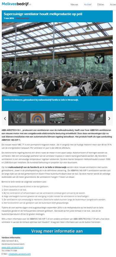 Abbi Aerotech advertorial Melkveebedrijf.nl
