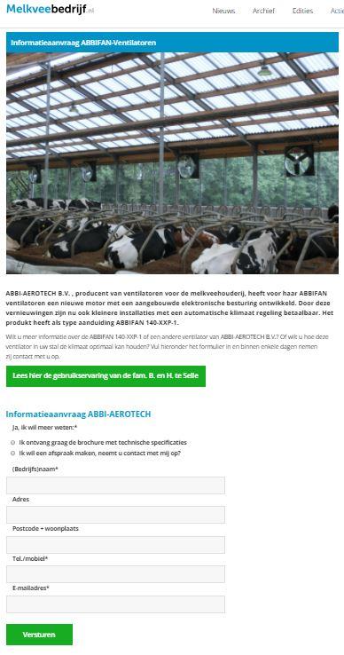 Abbi Aerotech responspagina melkveebedrijf.nl