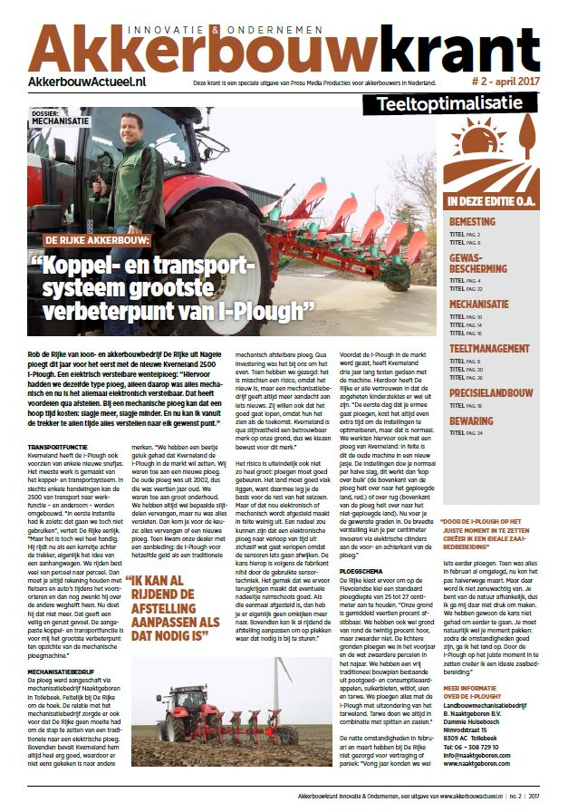 Cover Akkerbouwkrant april 2017