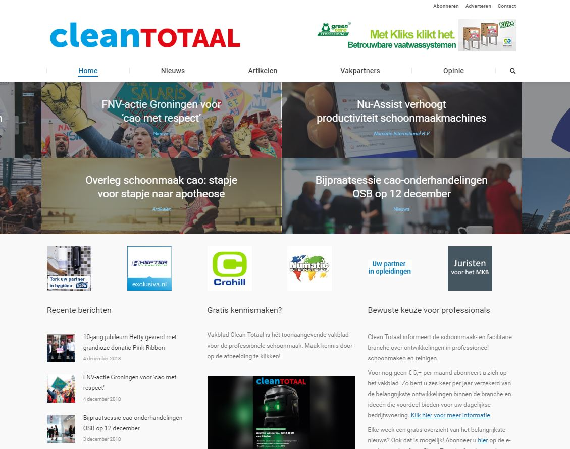 website CLEAN TOTAAL