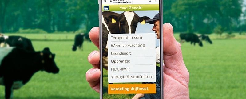Geslaagde online campagne: Honderden melkveehouders gebruiken GrassN App