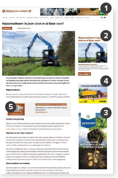 akkerbouwbedrijf website